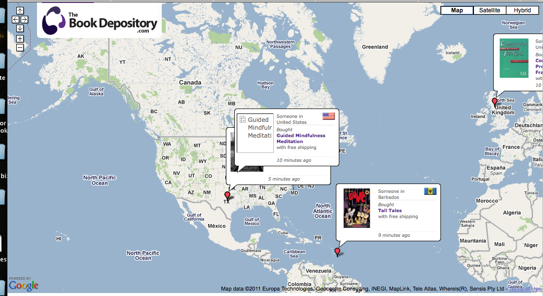 The book depositorys live sales map dana stabenow gumiabroncs Images