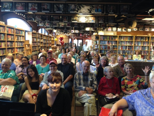 Everybody who is anybody showed up yesterday at the Poisoned Pen for the launch of Everything Under the Heavens.