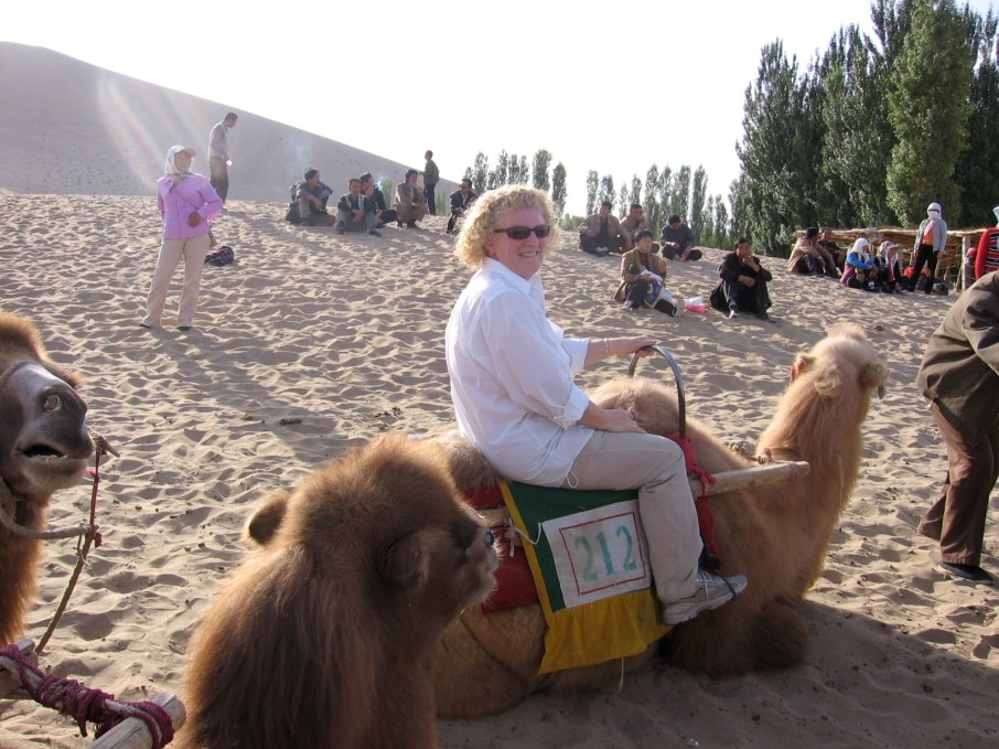 me on a camel at Mingsha