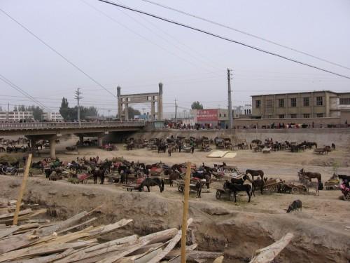 Parking lot in Kuche