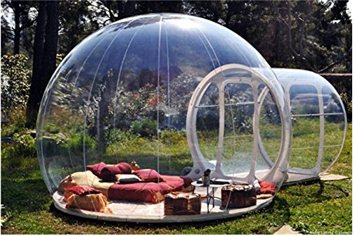 clear camping tent